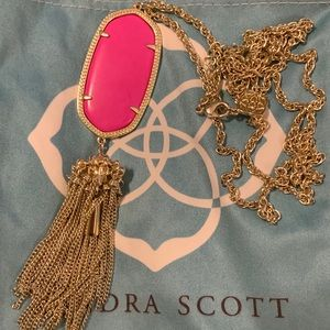 Kendra Scott magenta and gold rayne